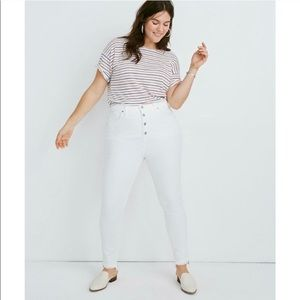 Madewell Women's White Skinny Cropped Jeans